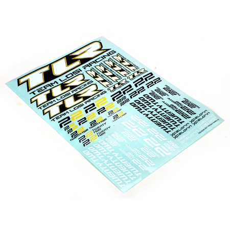 Losi TLR8308 Sticker Sheet: 22