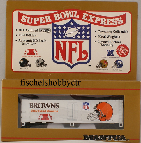 Mantua 733-906 Super bowl Express Cleaveland Browns 41' steel reefer HO