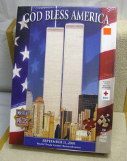 Master Pieces jigsaw puzzle God Bless America #60203 Twin Towers