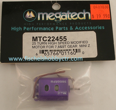 Megatech MTC22455 25 Turn High speed motor Mini Z