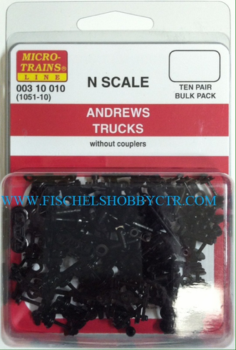Micro-Trains Line 003 10 010 1051-10 Andrews trucks without couplers (10pr)