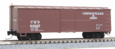 Micro Trains Line 51500180 40' Wood-Sheathed Boxcar Chesapeake & Ohio #84827 (Boxcar Red) Z scale