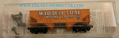 Micro Trains Line 56350 33' Twin Bay Hopper Rib side Waddell Coal Mining Company Inc. WDLX 101 N scale