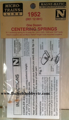 Micro trains Lines 001 12 001 Centering Springs -- For #1023/25 Couplers pkg(12)