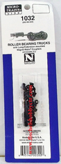 Micro trains Lines 1032 003 02 034 Roller-Bearing Trucks -- With Long Extended Couplers 1 Pair