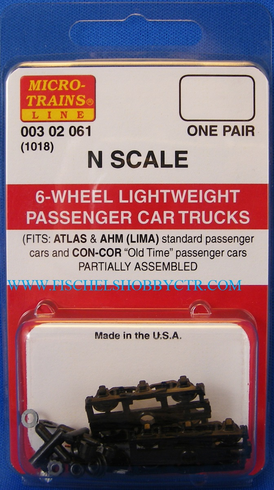 Micro trains Lines MTL 1018 00302061 6 wheel lightweight passenger trucks N
