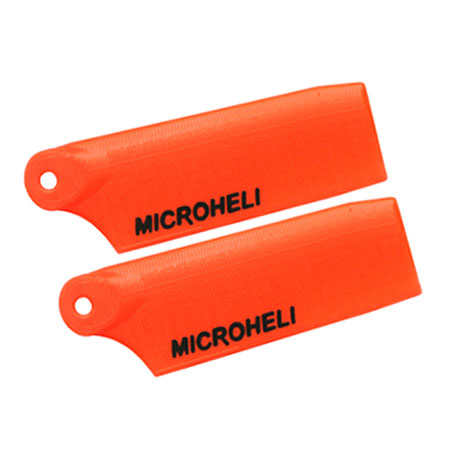 MicroHeli MHE130X030OR MH-130X030OR Plastic Tail Blade 29mm, Orange: Blade 130 X