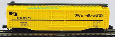 Model Power 3089 50' Box car # 60649 D&RGW Denver & Rio Grande N scale