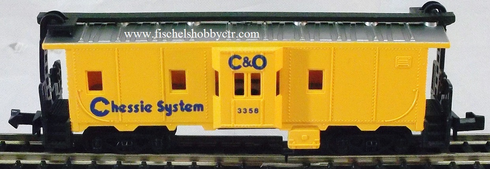 Model Power 3121 C&O Chessie system # 3358 bay window caboose N scale