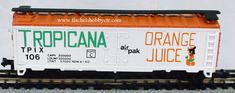 Model Power 3404 Tropicana Orange Juice Refrigerator box car # 106 N scale