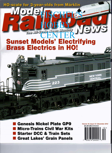 Model Railroad News Magazine December 2012