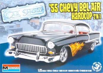 Monogram 854295 1/25 '55 Chevy Bel Air Hardtop 2'n1