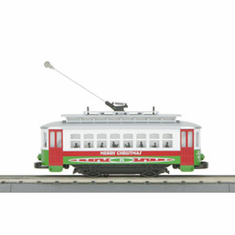 MTH 30-41721 Trolley R-T-R Train Set - Christmas