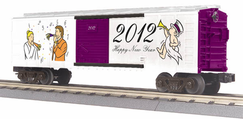 MTH 30-74658 Box car 2012 Happy New Year's car O-27