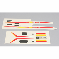 ParkZone PKZ3008 Decal Set, Red Yellow: Cessna 210 Centurion