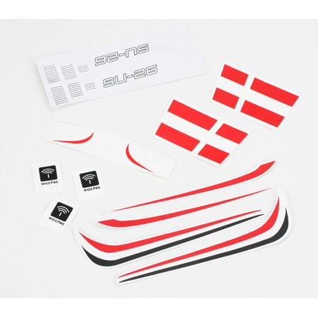 ParkZone PKZ3503 Decal Sheet: Sukhoi