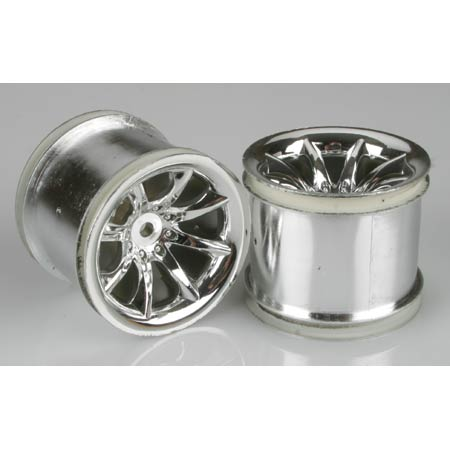Pro-Line 2652-01 Agitator Rear Wheels, Chrome:RU, ST