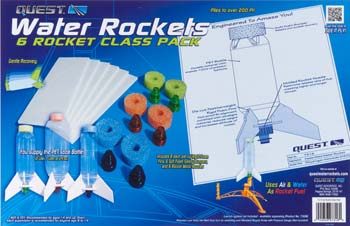 Quest 7316 6 Piece Water Rocket Class Pack