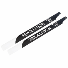 Revolution RVOB069000 690mm Flybar 3D Carbon Main Rotor Blades