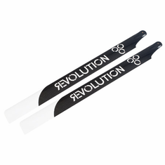 Revolution RVOB071000 710mm Flybar 3D Carbon Main Rotor Blades