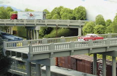 Rix Products 628-151 1930s Highway Overpass N scale 50' Deck Only