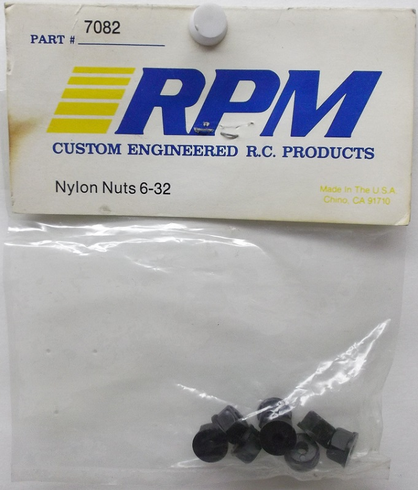 RPM 7082 6-32 Nylon Nuts