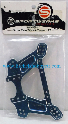 Sportwerks SWK9280 5mm Rear Aluminum shock tower BLUE: Storm