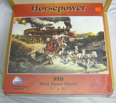 Sunsout jigsaw 1000 piece puzzle Horsepower #21560
