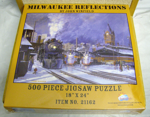 Sunsout jigsaw 500 piece puzzle Milwaukee Refelctions #21162