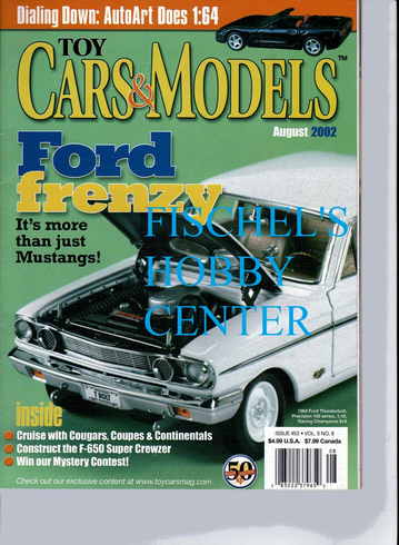 Toy Cars & Models Magazine August 2002
