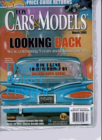 Toy Cars & Models Magazine March 2003