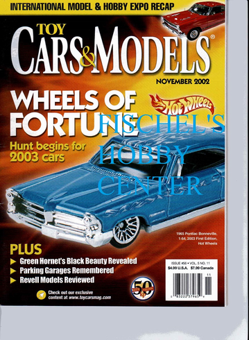 Toy Cars & Models Magazine November 2002