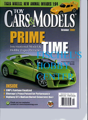 Toy Cars & Models Magazine October 2002