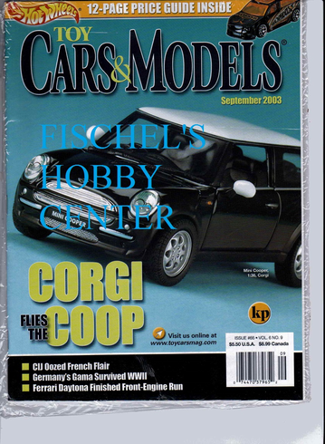 Toy Cars & Models Magazine September 2003