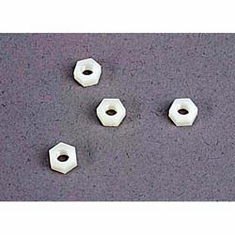 Traxxas 2447 Nuts,4mm Nylon,Fr Wheel:BA