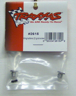 Traxxas 2615 Wing button 2 with grub screw