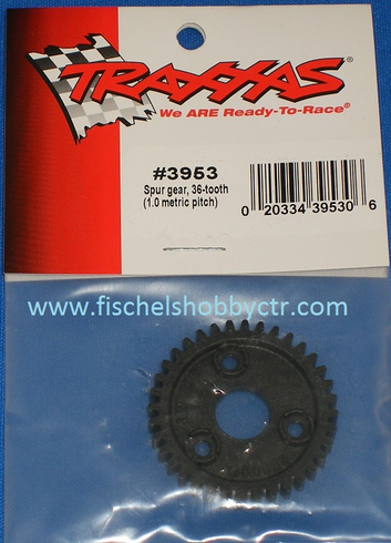 Traxxas 3953 36 tooth spur gear 1.0 metric pitch