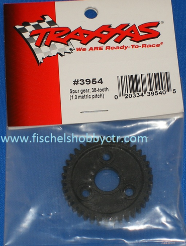Traxxas 3954 38 tooth spur gear 1.0 metric pitch