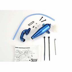 Traxxas 4486 Aluminum Tuned Pipe Head: N4-Te