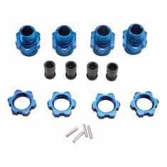Traxxas 6856X 17mm Wheels Hubs (4), Blue: Slash 4x4,Stampede 4x4