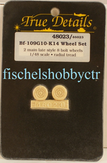 True Details 48023 Bf-109G10-K14 Wheel set Radial Tread 1/48 scale
