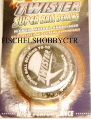 Twister Super ball bearing yo-yo clear glitter