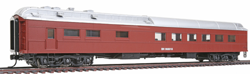 Walthers 932-10171 Burlington Northern #968018 (MOW Scheme, Boxcar Red, silver)