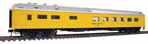 Walthers 932-10174 Pennsylvania Railroad #492197 (MOW Scheme, yellow, silver)