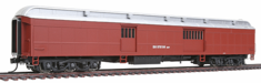 Walthers 932-10528 Burlington Northern #976184 (MOW Scheme; Boxcar Red, silver)
