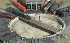 Walthers 933-2613 Modern 130' Turntable (Assembled, Motorized, Programmable Indexing) N scale