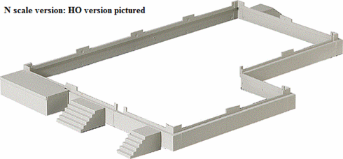 Walthers 933-3283 Cornerstone Modulars Foundation & Loading Docks N scale