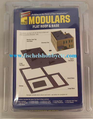 Walthers 933-3721 Flat Roof & Base - Cornerstone Modulars HO scale
