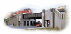 Walthers 933-3800 Art Deco Highway Underpass N scale