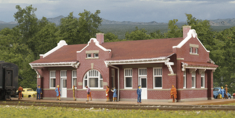 Walthers 933-3803 Santa Fe-Style Brick Depot N scale